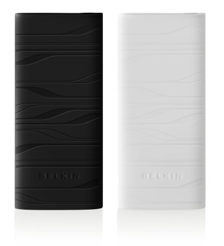 Belkin 2-Pack Silicone Sleeve Case for iPod nano 4G (Black/White)