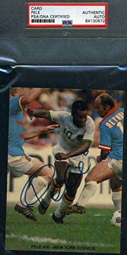 PELE PSA DNA Autograph Photo Hand