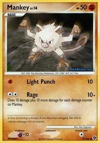 Pokemon - Mankey (79) - Great Encounters - Reverse Holofoil (Card Pokemon Mankey)
