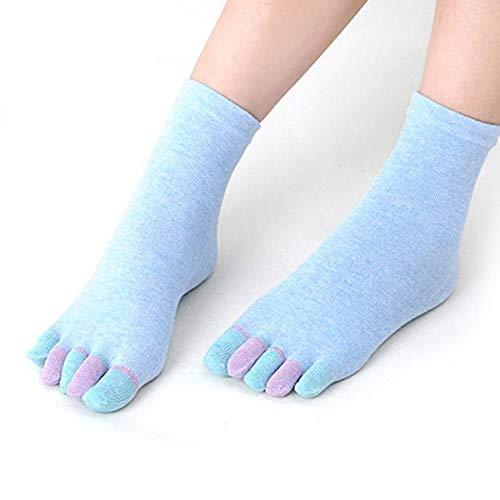 Cinnamou Calcetines Yoga Pilates con Dedos Antideslizantes Mujer Niños de Verano Divertidos Calzado Tobillero Cortos Deporte