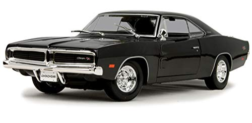 Maisto New 1:18 W/B Special Edition Collection - Black 1969 Dodge Charger R/T Diecast Model Car ()