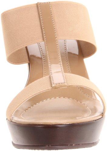 Charles Di Charles David Womens Tick Tock Sandalo Con Zeppa Di Cammello