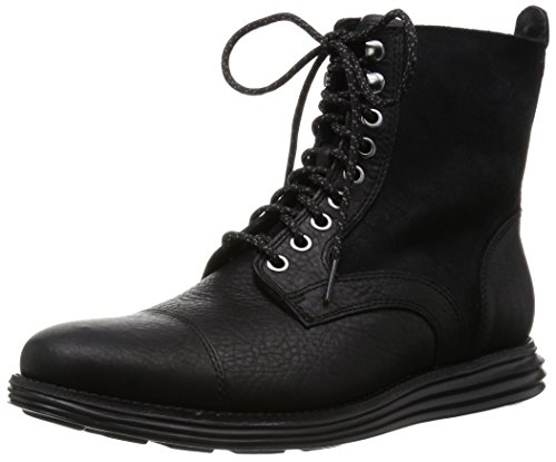 Cole Haan Men's Lunargrand Lace Chukka Boot, Black Leather/Suede WP, 8.5 M US (Cole Haan Lace Boot compare prices)