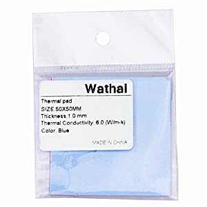 Wathai 6.0 W/mk 0.5mm 1mm 1.5mm Soft Thermal Conductive Pads for IC Chipset Northbridge Heatsink … by Wathai
