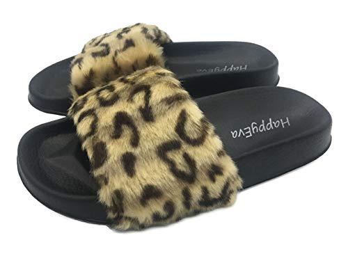 Women's Open Toe Slippers Non Slip Soft Sole Sandals for Indoor&Outdoor ()