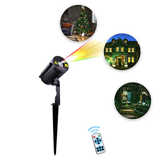 Betopper Outdoor Waterproof Christmas Light House Decoration Projector with IR Wireless Remote Star Show, Aluminum Alloy Case for Christmas, Holiday, Parties, Landscape, Garden Decoration