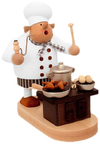 German Incense Smoker Cook with oven - 20 cm / 8 inch - Authentic German Erzgebirge Smokers - KWO by KWO