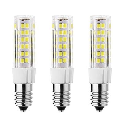 Rayhoo 3pcs E14 Base LED Bulb 7W LED Light, 75-2835-SMD LED Chipsets, 60W Incandescent Bulb Equivalent, Not Dimmable, White 6000-6500K, 500LM