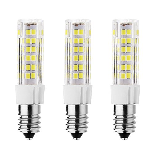 Rayhoo 3pcs E14 Base LED Bulb 7W LED Light, 75-2835-SMD LED Chipsets, 60W Incandescent Bulb Equivalent, Not Dimmable, White 6000-6500K, 500LM