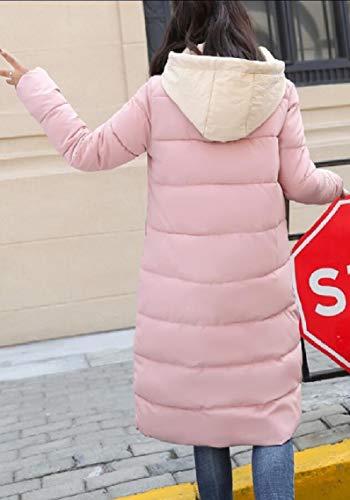 Thicken Down Long Outwear Pink Women Gocgt Parka Mid Coat Hooded Jacket xa0gwPt8