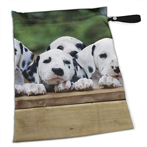 NRDXQ English Taurus Dog Wet Dry Cloth Diaper Bags - Baby Waterproof Washable Reusable Hanging Diaper Organizer