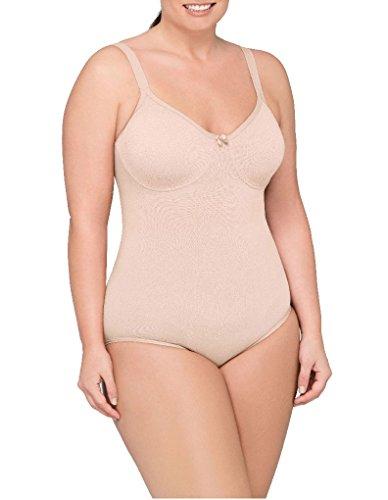 Body Wrap Plus Size Firm Control Bodysuit, 3X, Nude