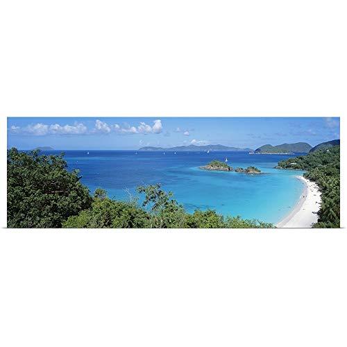 (GREATBIGCANVAS Poster Print Entitled Trunk Bay Virgin Islands National Park St. John US Virgin Islands by 48