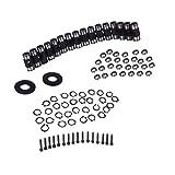 FLAMEER Auto Car Engine Rocker Arm Trunion Kit with Big Clip for 5.3L 6.0L 6.2L 7.0L LS1 LS3