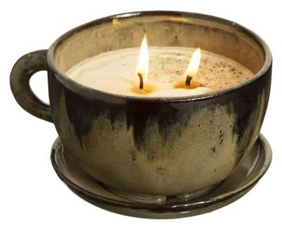Swan Creek Coffee Mug Scented Candle Large 11 oz (Olive Cup - Pumpkin Vanilla Scent)
