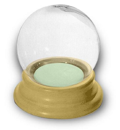 Snow Globe with Wood Base Makes a Fun Project For Do-It-Yourselfers (Pkg/2)