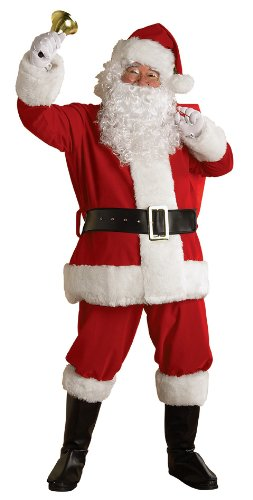 Rubie's Regal Plush Santa Suit with Wig and Beard, Red/White, XX-Large - Santa Halloween