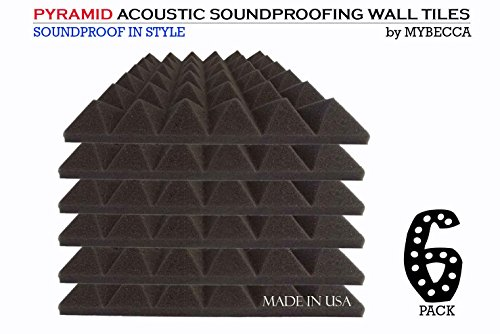 mybecca-6-pack-premium-pyramid-2-inch-acoustic-foam-studio-soundproofing-sound-isolation-wall-tiles-