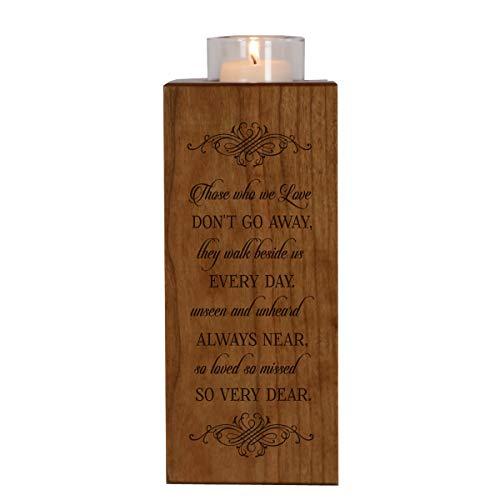 LifeSong Milestones Memorial Candle Holder in Loving Memory for Loved One Funeral Bereavement Keepsake Gift 8in (Those We Love)