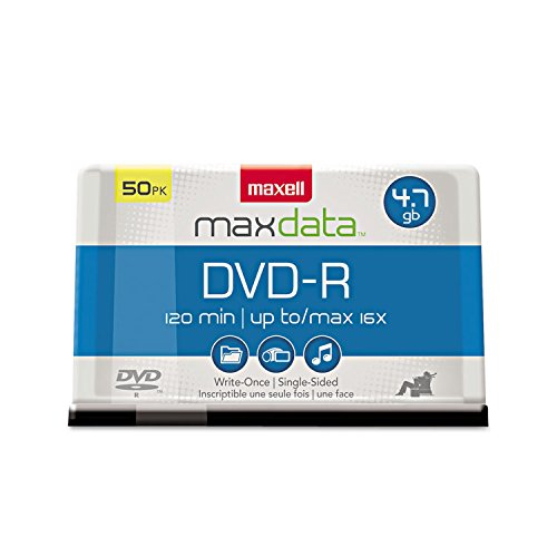 Maxell DVD Recordable Media - DVD-R - 16x - 4.70 GB - 50 Pack Spindle - 120mm by Maxell