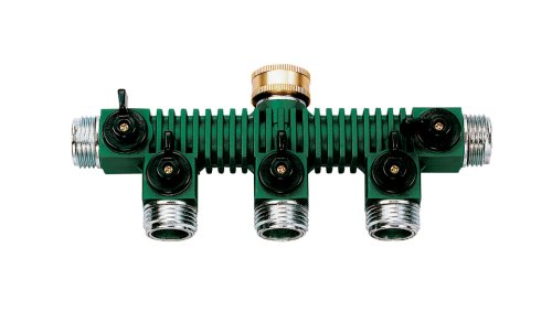 Orbit 62019 5-Way Zinc Hose Faucet Valve Manifold (Faucet Manifold Hose)