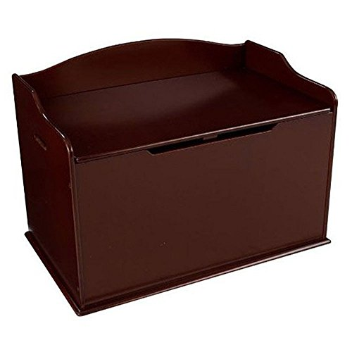 KidKraft Austin Wooden Toy Organizer Storage Chest Box and Sitting Bench, Cherry (Toy Chest Wooden Durable)