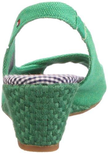 Grün 392 Green 5 Hilfiger B Sandales Tommy Cassie English femme Vert 0Afzx1vw