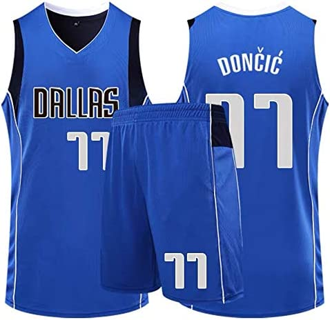 conjunto de baloncesto para hombre o baloncesto Basport Dallas Mavericks 77 Doncic Jersey