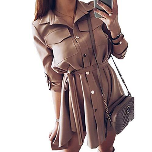 Básico Vaina Asimétrico Mujer XL TTSKIRT Khaki Un Color Vestido zWw5WYEq