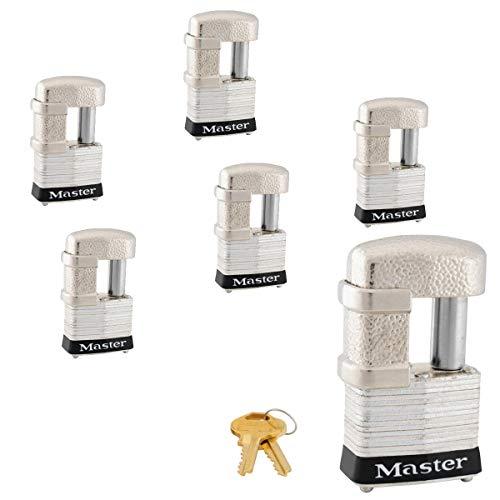 Master Lock - (6) Keyed Alike Trailer & Multi Purpose Padlocks, 37KA-6