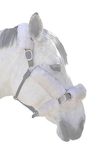 ECP Merino Sheepskin Halter Fleece Set for Horse Protection and Relief, 6 Pieces White