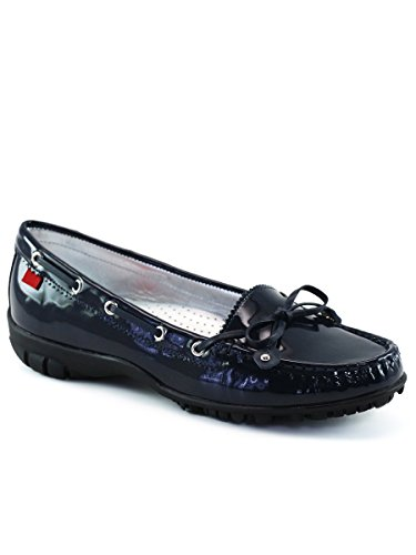 Marc Joseph New York Women's Fashion Shoes Cypress Golf Moccasin Size 8.5 - Navy Patent - Golf Shoes Tiger