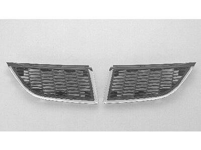 PASSENGER SIDE GRILLE Mitsubishi Galant CHROME/SILVER GRAY;. (WITHOUT MFR MANUFACTURER EMBLEMS / LOGOS. THEY ARE TRADEMARK PROTECTED.)