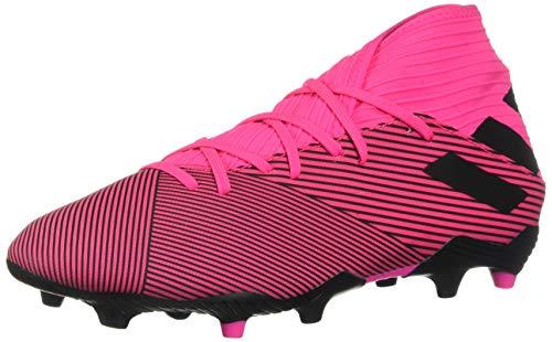 adidas Men's Nemeziz 19.3 Firm Ground Soccer Shoe, Shock Pink/Black/Shock Pink, 8.5 M US