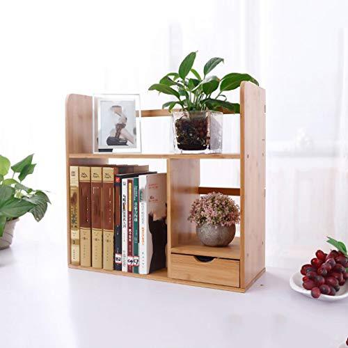 HLJ Personalidad Escritorio Almacenamiento Pequeña estantería Simple con cajón Mesa Estante Estantería Creativa para...