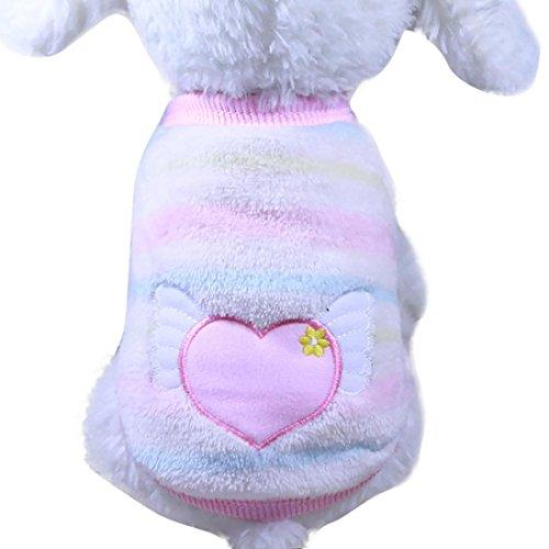 Print Coat Velvet (Letdown Pet Clothes, Warm Soft Coral Velvet Pet Cat Coats Sweater for Small Puppy (XXS))