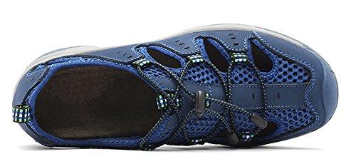 LOUECHY Mens Landam Fisherman Sandals Outdoor Sport Sandal Water Shoes Summer Hiking Sandals Blue(closed Heel) LORdQ02
