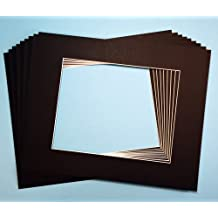 Pack of 10 BLACK 16x20 Picture Mats Matting with White Core Bevel Cut for 11x14 Pictures