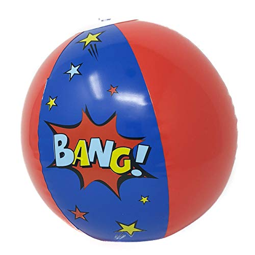 12 Superhero Beach Ball Party Supplies - Superhero Party Favors (1 -