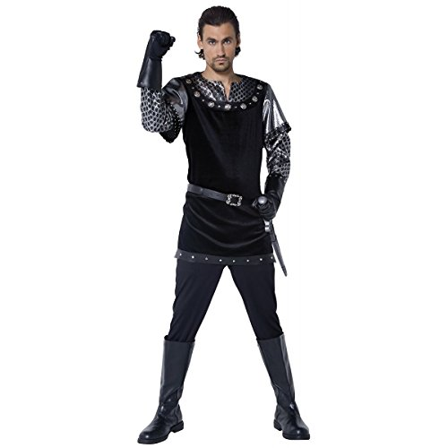 [GSG Knight Costume Adult Black Sheriff of Nottingham Game of Thrones Fancy Dress] (Cabaret Costumes For Men)