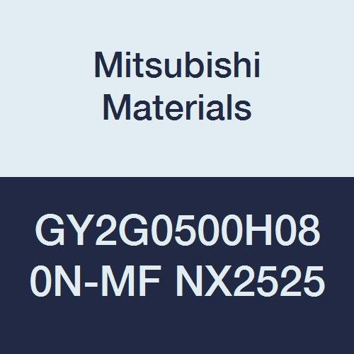 0.197 Grooving Width Mitsubishi Materials GY2G0500H080N-MF NX2525 Series GY Cermet Grooving Insert for Multifunctional and Finishing 2 Teeth H Seat Pack of 10 0.031 Corner Radius