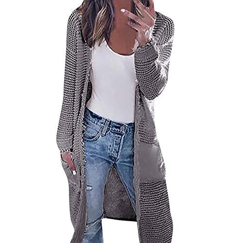 BETTERUU UFACE Womens Long Sleeve Knitting Cardigan Tops Ladies Autumn Contrast Jacket Shirts ()