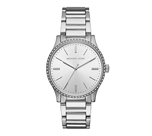 Michael Kors Women's Silvertone Round Face Bailey Watch
