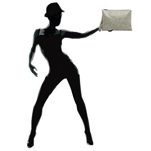 CASPAR Fashion - Cartera de mano para mujer color carne