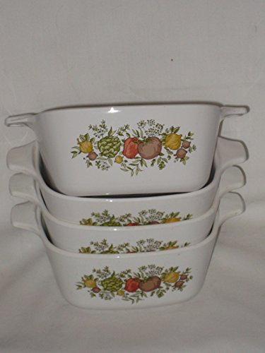 Corning Corelle Spice (Set of 4 - Vintage Corning Spice O' Life 2 3/4 Cup Casseroles Baking Dishes)