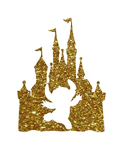Disney Epcot Stitch Castle Cut Out Iron-On Transfer Image Graphics for T-Shirts, Pillowcases, Bags, Party Favors, DIY Projects ()
