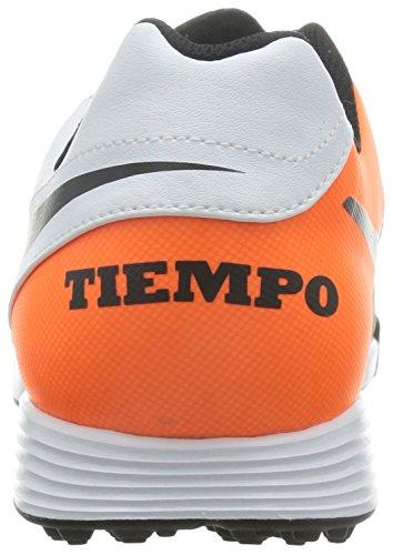 Nike Menns Tiempo Genio Ii Skinn Tf Hvit / Svart Total Oransje Torv Fotball Sko 7 Menn Oss