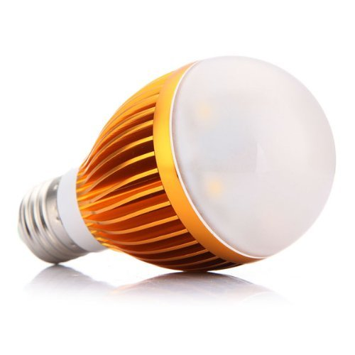 SODIAL(R) E27 10W LED Warm White Energy Saving Globe Medium Base Light Lamp Bulb 110-220V