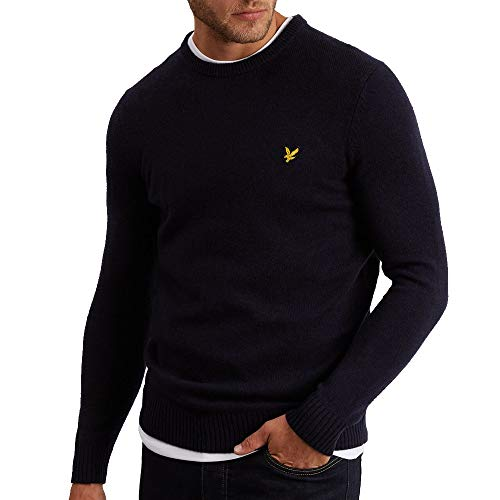 (Lyle and Scott Vintage Crew Neck Lambswool Blend Jmp XL Dk Navy)