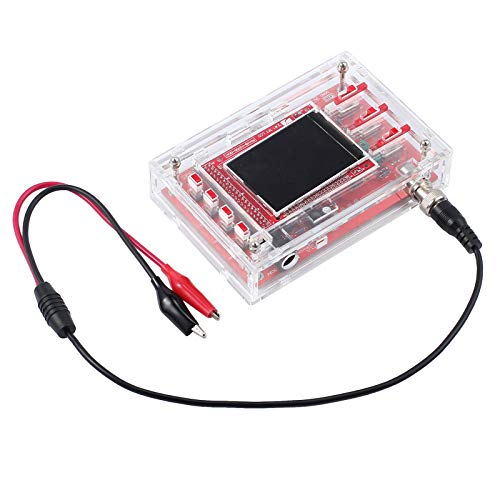 "AUTOUTLET Fully Welded Assembled Oscilloscope Kit 2.4"" TFT 1Msps Digital Oscilloscope Probe Lead+Acrylic Case DIY, Pefect for Arduino etc"
